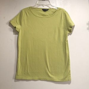 Lands End Lime green tee shirt size Small 4-6